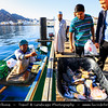 Middle East - Sultanate of Oman - Muscat - مسقط - Masqaṭ - Muscat Port - Port Sultan Qaboos - Muttrah Corniche - Mutrah Fish Market - Fresh catch taken from the boats and being sold at the market area by locals