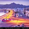 Middle East - Sultanate of Oman - Muscat - مسقط - Masqaṭ - Muscat Port - Port Sultan Qaboos - Muttrah corniche along Arabian Sea