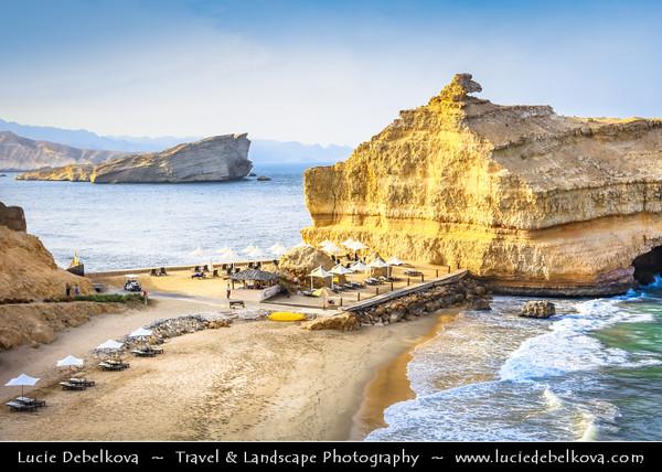 Middle East - Sultanate of Oman - Muscat - مسقط - Masqaṭ - Yiti Beach - Yitti - Rocky coastal area along Gulf of Oman or Sea of Oman