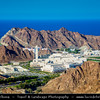 Middle East - Sultanate of Oman - Muscat - مسقط - Masqaṭ - Council of State - Majlis al-Dawla - Majlis Oman - Omani parlaiment council building between mountains