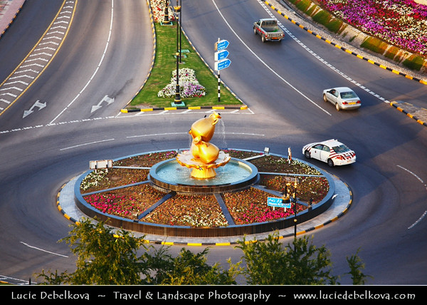 Middle East - Sultanate of Oman - Muscat - مسقط - Masqaṭ - Muscat Port - Port Sultan Qaboos - Muttrah corniche - Giant Incense Burner - Symbol of the Sultanate of Oman
