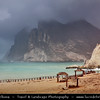 Middle East - Sultanate of Oman - Dhofar Province - Salalah Area - صلالة - Ṣalālah - Al-Mughsayl - Al-Maghseel Beach - Scenic coastal location along Indian Ocean with rugged mountains during Khareef - Rainy Season