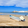 Middle East - Sultanate of Oman - Ash Sharqiyah Region - Sur - صور‎ - One of the ancient Omani maritime cities & important destination point for sailors on coast of Gulf of Oman - Al-Ayjah Lighthouse - Impressive 3-story tower with domed roof in Ayjah Bay