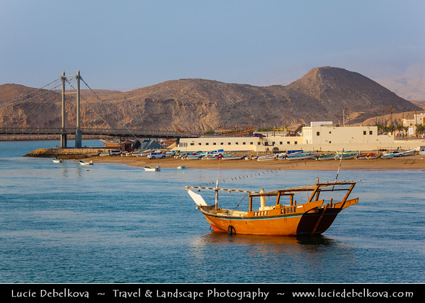 Middle East - Sultanate of Oman - Ash Sharqiyah Region - Sur - صور - One of the ancient Omani maritime cities & important destination point for sailors on coast of Gulf of Oman - Al-Ayjah watchtowers along the sea shore