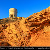 Middle East - Sultanate of Oman - Ash Sharqiyah Region - Sur - صور‎ - One of the ancient Omani maritime cities & important destination point for sailors on coast of Gulf of Oman - Al Ayjah Bay and watch tower on a rock