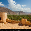 Middle East - Sultanate of Oman - Al Batinah Region - Nakhal Fort - Nakhl -  قلعة نخل‎ - Qalʿa Nakhal - One of the most spectacular forts dramatically located at the edge of the Jebel Akhdar Mountains