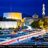 Middle East - Sultanate of Oman - Ad Dakhiliyah Region - Nizwa - نزوى - Historical town - One of oldest cities in Oman - Nizwa Fort - Massive castle & Oman's most visited national monument & Beautiful historical As Sultan Qaboos Mosque