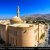 Middle East - Sultanate of Oman - Ad Dakhiliyah Region - Nizwa - نزوى‎ - Historical town - One of oldest cities in Oman - Nizwa Fort Area & Beautiful historical As Sultan Qaboos Mosque