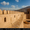 Middle East - Sultanate of Oman - Al Batinah Region - Rustaq - الرستاق‎ - One of former capitals of Oman - Rustaq fort - Imposing structure built on three levels, containing separate houses, armoury, mosque and four towers