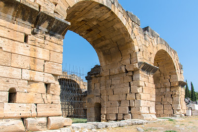 Arches of the bath ruins of Hierapolis of Phrygia.