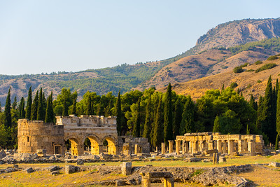 North Roman Gate in Hierapolis of Phrygia.