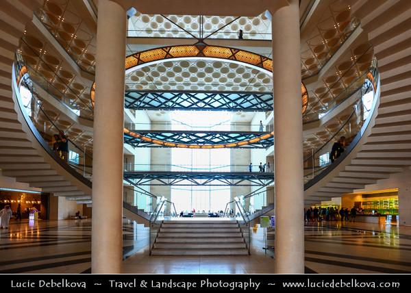 Middle East - GCC - Qatar - Doha - الدوحة - ad-Dawḥa - ad-Dōḥa - Museum of Islamic Arts - MIA - Iconic building and major landmark - Islamic art from three continents over 1,400 years