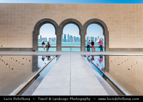 Middle East - Qatar - Doha - الدوحة‎ - ad-Dawḥa - ad-Dōḥa - Doha Corniche - Museum of Islamic Arts - MIA - Iconic building and major landmark - Islamic art from three continents over 1,400 years