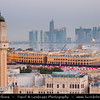 Middle East - Qatar - Doha - الدوحة‎ - ad-Dawḥa - ad-Dōḥa - Souq Waqif & New and Modern Skyline with Sky High Skyscrapers along the Corniche
