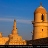 Middle East - GCC - Qatar - Doha - الدوحة‎ - ad-Dawḥa - ad-Dōḥa - Souq Waqif - Souk Wakif - Shopping destination built in traditional architectural Qatari style &  Fanar - Spiral Minaret of Doha Islamic Center