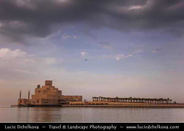 Qatar - Doha - الدوحة - ad-Dawḥa - ad-Dōḥa - Doha Corniche - Museum of Islamic Arts at Dusk