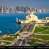 Middle East - GCC - Qatar - Doha - الدوحة‎ - ad-Dawḥa - ad-Dōḥa - Doha Corniche & Museum of Islamic Arts - MIA - Iconic building and major landmark - Islamic art from three continents over 1,400 years