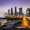 Qatar - Doha - الدوحة‎ - ad-Dawḥa - ad-Dōḥa - Doha Corniche and its New and Modern Skyline