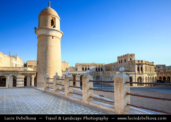 Middle East - Qatar - Doha - الدوحة - ad-Dawḥa - ad-Dōḥa - Souq Waqif - Shopping destination built traditional architectural style