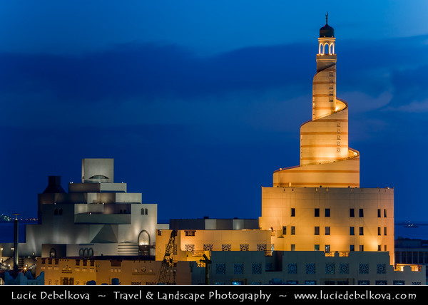 Middle East - Qatar - Doha - الدوحة‎ - ad-Dawḥa - ad-Dōḥa - Fanar - Spiral Minaret of Doha Islamic Center &  Museum of Islamic Arts - MIA