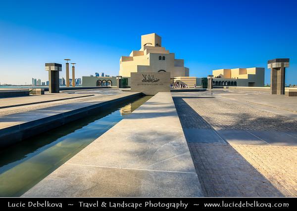 Middle East - Qatar - Doha - الدوحة - ad-Dawḥa - ad-Dōḥa - Doha Corniche - Museum of Islamic Arts - MIA - Iconic building and major landmark - Islamic art from three continents over 1,400 years