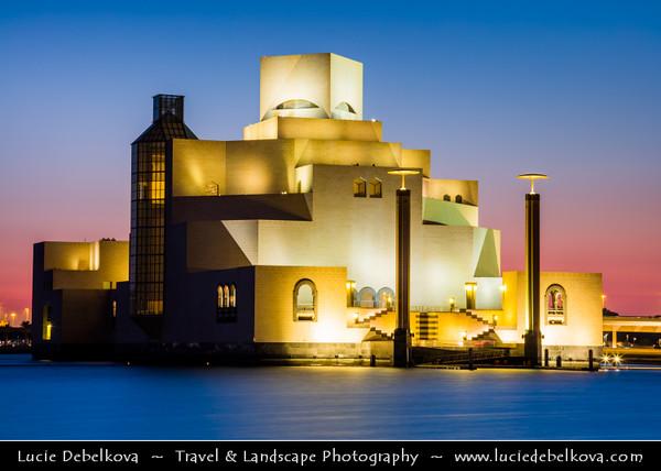 Middle East - GCC - Qatar - Doha - الدوحة - ad-Dawḥa - ad-Dōḥa - Doha Corniche & Museum of Islamic Arts - MIA - Iconic building and major landmark - Islamic art from three continents over 1,400 years