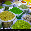 Middle East - GCC - Qatar - Doha - الدوحة‎ - ad-Dawḥa - ad-Dōḥa - Souq Waqif - Souk Wakif - Shopping destination built in traditional architectural Qatari style - Market with stores selling a variety of spices, herbs and nuts