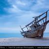 Qatar - Al Wakrah - Al Waqra - Al Waqrah - Village at shores of the sea built in traditional Qatari style - Dhows and Boats at Misty Dawn