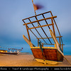 Middle East - GCC - Qatar - Al Wakrah - Al Waqra - Al Waqrah - Village at shores of the sea built - Traditional Dhow - Boat - Dusk - Twilight - Blue Hour - Night
