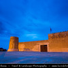 Middle East - GCC - Zubara Fort - الزبارة‎ - Al Zubarah - Al Zubarah - Historic Qatari military fortress built under oversight of Sheikh Abdullah bin Qassim Al Thani in 1938 - Dusk - Twilight - Blue Hour - Night