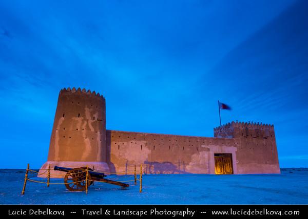 Middle East - GCC - Zubara Fort - الزبارة - Al Zubarah - Al Zubarah - Historic Qatari military fortress built under oversight of Sheikh Abdullah bin Qassim Al Thani in 1938