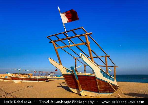 Middle East - GCC - Qatar - Al Wakrah - Al Waqra - Al Waqrah - Village at shores of the sea built in traditional Qatari style