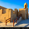 Middle East - GCC - Qatar - Al Wakrah - Al Waqra - Al Waqrah - Village at shores of the sea built in traditional Qatari style - Small mosque with a minaret