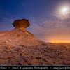 Middle East - GCC - Qatar - Bir Zekreet Desert Landscape - Spectacular rocky limestone cliffs & formations such as desert mushroom