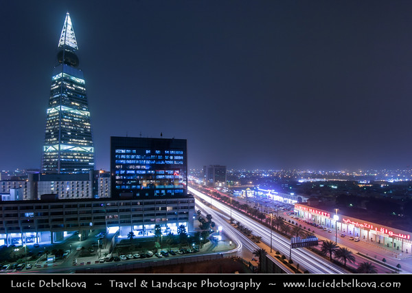 Saudi Arabia - Riyadh - الرياض‎ - ar-Riyāḍ - The Gardens - Capital and largest city of Saudi Arabia - Al Faisaliah Tower - The first skyscraper built in Saudi Arabia