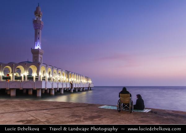 Saudi Arabia - Jeddah - Jiddah - Jidda - Jedda - جدّة - City on the coast of the Red Sea - Floating Mosque on Jeddah Corniche - Place of Worship