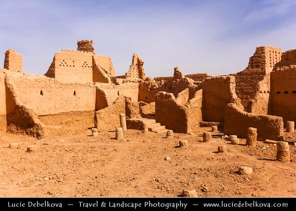 Saudi Arabia - Riyadh - الرياض - ar-Riyāḍ - The Gardens - Capital and largest city of Saudi Arabia - Diriyah - Al-Dirah - Al-Diriyah (Ad-Dir'iyah, Ad-Dar'iyah or Dir'aiyah) - الدرعية - Original home of the Saudi royal family - Served as the capital of the first Saudi dynasty