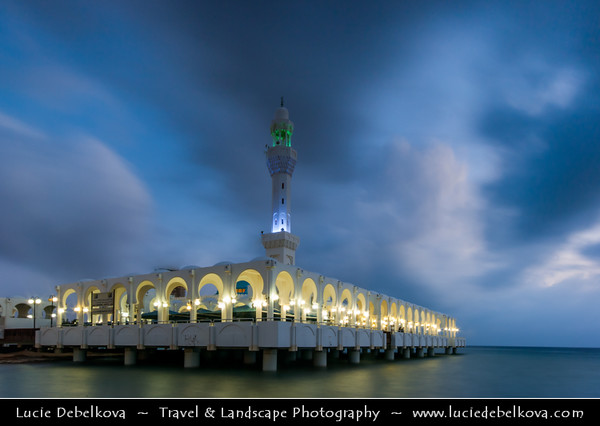 Saudi Arabia - Jeddah - Jiddah - Jidda - Jedda - جدّة‎ - City on the coast of the Red Sea - Floating Mosque on Jeddah Corniche - Place of Worship