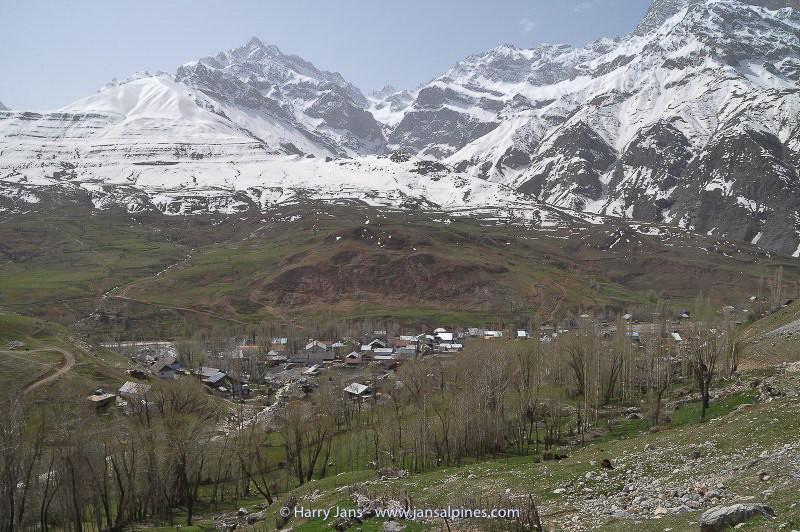 view over Kalon village at Ansob pass