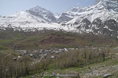 view over Kalon village at Ansob pass