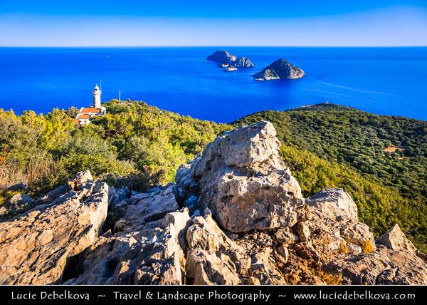 Middle East - Turkey - Türkiye - Antalya Province - Adrasan - Teke Peninsula - Cape Gelidonya - Gelidonya Burnu - Taşlık Burnu, formerly Kilidonia - Cape or headland in Taurus Mountains - Gelidonya Lighthouse on shores of Mediterranean Sea