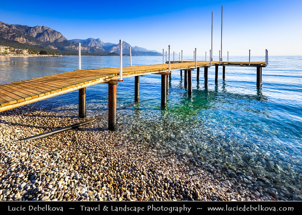 Middle East - Turkey - Türkiye - Antalya Province - Kemer - Seaside resort on Mediterranean coast along on Turkish Riviera at the foot of Taurus Mountain