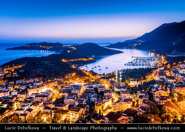 Middle East - Turkey - Türkiye - Antalya Province - Kaş - Kash - Kas - Small fishing, diving, yachting and tourist town on Mediterranean coast along on Turkish Riviera