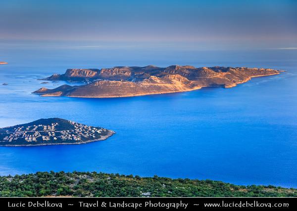 Middle East - Turkey - Türkiye - Antalya Province - Kaş - Kash - Kas - Small fishing, diving, yachting and tourist town on Mediterranean coast along on Turkish Riviera
