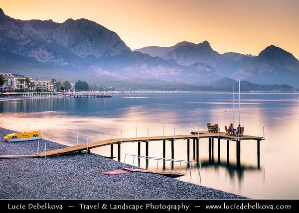 Middle East - Turkey - Türkiye - Antalya Province - Kemer - Seaside resort on Mediterranean coast along on Turkish Riviera at the foot of Taurus Mountain