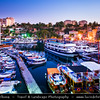 Middle East - Turkey - Türkiye - Mediterranean coast of southwestern Turkey - Antalya - International sea resort located on the Turkish Riviera - Kaleiçi - Old Town of Antalya - Picturesque old historical quarter at the center of the sprawling modern city