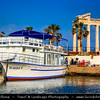 Turkey - Türkiye - Antalya Province - Side - Ancient Greek city on Mediterranean coast - Resort town & one of the best-known classical sites with number of ruins remaining from the Roman empire - Ruins of the Temple of Apollo by the sea