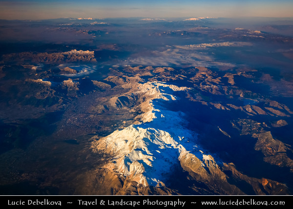 Middle East - Turkey - Türkiye - Antalya Province - Taurus Mountains from Aerial View