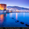 Middle East - Turkey - Türkiye - Mediterranean coast of southwestern Turkey - Antalya Province - Alanya - Alaiye - Beach resort city located on the Turkish Riviera below the Taurus Mountains - Historical town center & harbor with Red Tower - Kızıl Kule - Symbol of the city
