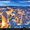 Turkey - Türkiye - Central Anatolia - Nevşehir Province - Cappadocia - Capadocia - Kapadokya - Kappadokía - UNESCO World Heritage Site - Göreme National Park - Spectacular volcanic surrealistic landscape entirely sculpted by erosion with Fairy Chimneys rock formation